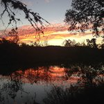 Sunset down by the Frio River near Cabin #10