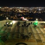 View from Restaurate Amador over Malaga at night