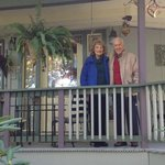 John and Jean on the front verandah