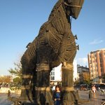 History abounds in this area. Troy is nearby. This replica of the famed horse was made for the m