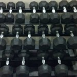 Dumbbells from 10lb - 50lb