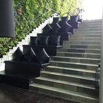 Stairs to private villas!!