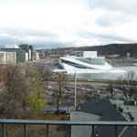 view of Oslo Operahouse from upper patio