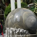 Rotating ball at entrance of Hotel