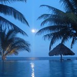 Moonrise over the pool.