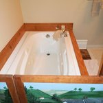 Whirlpool tub with cute divider