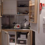 compact but complete kitchenette