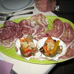 A typical plate of antipasti misti