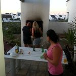 Saturday night braai with friends