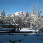View from main lodge after the snowstorm