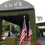 outside Luxe sunset boulevard hotel LS