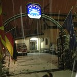 Villa Vodno entrance cover with snow 2013