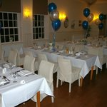 Function room as laid out for our party.