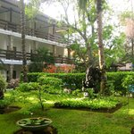 interior courtyard of hotel