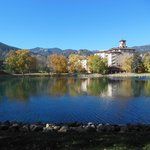 A view across the lake at the Broadmoor