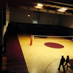 Huge basketball /volleyball court