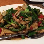 Chilli and basil with chicken