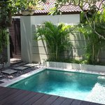 Private pool in the one bedroom villa