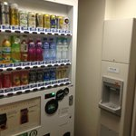 ice and vendoring machine on each floor