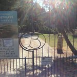 Entry gate to Bagnacci property