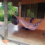 Hammocks outside bungalow