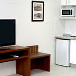 TV and Kitchenette