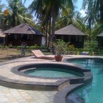 Pool and bungalows