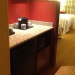 our room had a minifridge and microwave area. nice touch.