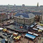 The view of Grotemarkt from the top of the Martinitoren