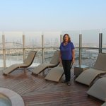 Pool deck, The Torch, Doha
