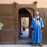 Omar at the entrance of Kasbah Ellouze