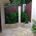 Outdoor private shower!