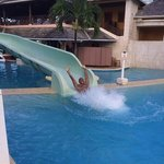 Can't have enough of the water slide.