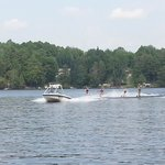 Waterskiing during the July 4th 2013