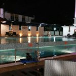 Hotel perdana swimming pool at night
