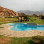 Great pool and gardens in this hot desert