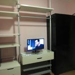 Shelving and TV in Bedroom