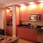 Kitchenette with high-end appliances