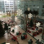 The hotel lobby in Nov 2013, just as they were setting up the Christmas tree!