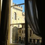 The Bargello and piazza from our window.