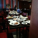 The debris covering every table at Breakfast on the first morning