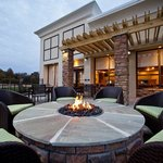 Holiday Inn Greensboro Airport Patio with Fire Pit