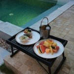 Room service poolside breakfast