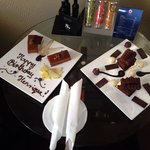 Birthday surprise left in our suite prior to our arrival