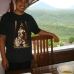 Chef & Proprietor Kadek from top floor balcony
