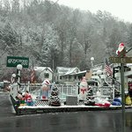Only hotel set up for Christmas in Gatlinburg,Tn