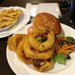 It's not a small Burger - it's BIG onion rings