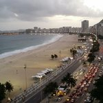 The roof top view of copacabana beach!
