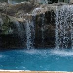 waterfall at the pool