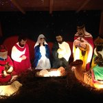 Nativity Outside Police Station Cockermouth
